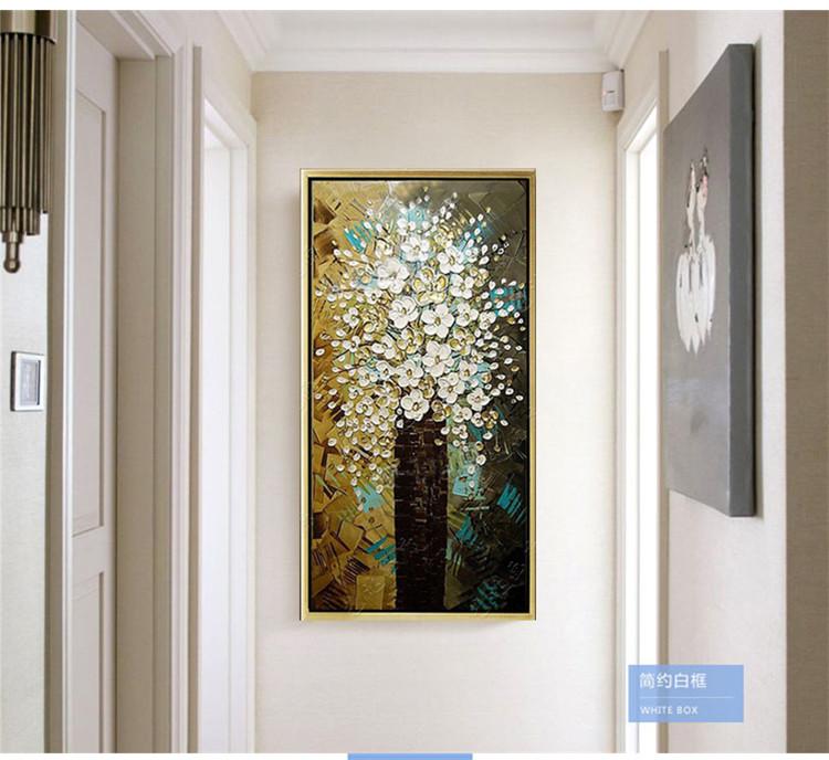 玄关挂画 壁画装饰画竖版立体画艺术画走廊壁画墙画纯手绘过道图片