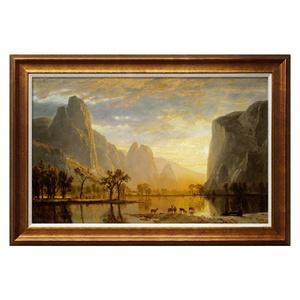 买画网欧式客厅油画挂画 鹿 美式古典山水风景装饰画