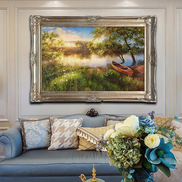 纯手绘欧式餐厅油画静物水果玄关油画过道走廊挂画背景墙装饰画