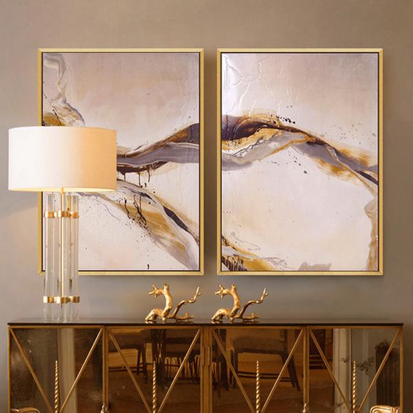 手绘油画抽象现代简约壁画玄关挂画艺术客厅墙画餐厅工业风装饰画