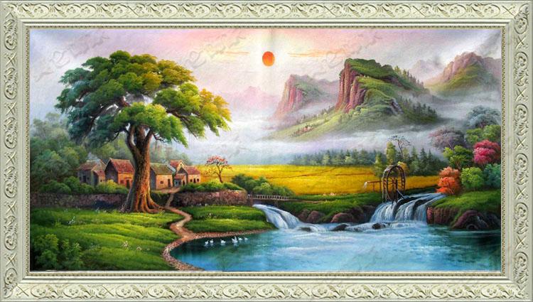 5d风景画壁纸材质贴图